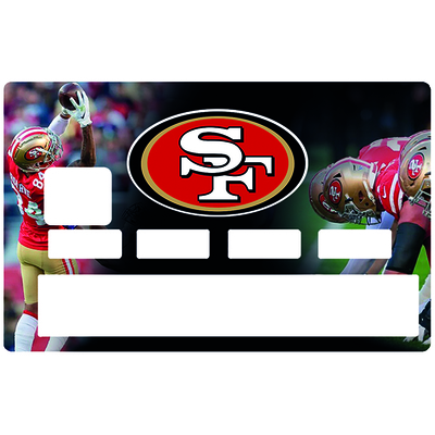 Credit card Sticker, tribute to San Francisco 49ers, limited édition 100 ex.