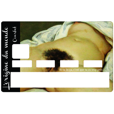 Credit card Sticker, World origin , courbet