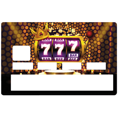 Credit card Sticker, JACKPOT 777