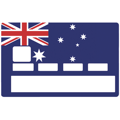 Credit card Sticker, Australian flag