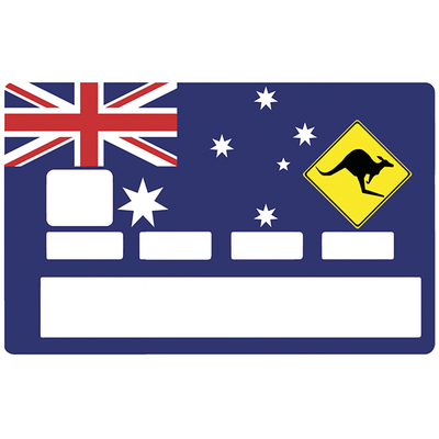 Credit card Sticker, australian symbol