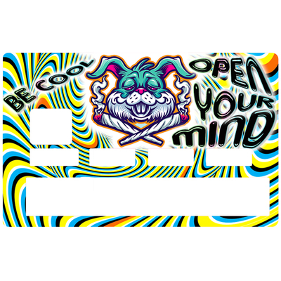 Credit card Sticker, Be Cool, open you mind