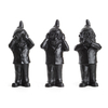 the 3 Garden Gnomes, who do not want to see, not hear, speak, color Black