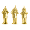 the 3 Garden Gnomes, who do not want to see, not hear, speak, color Gold