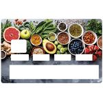 sticker-carte-bancaire-credit-card-stickers-nourriture saine-
