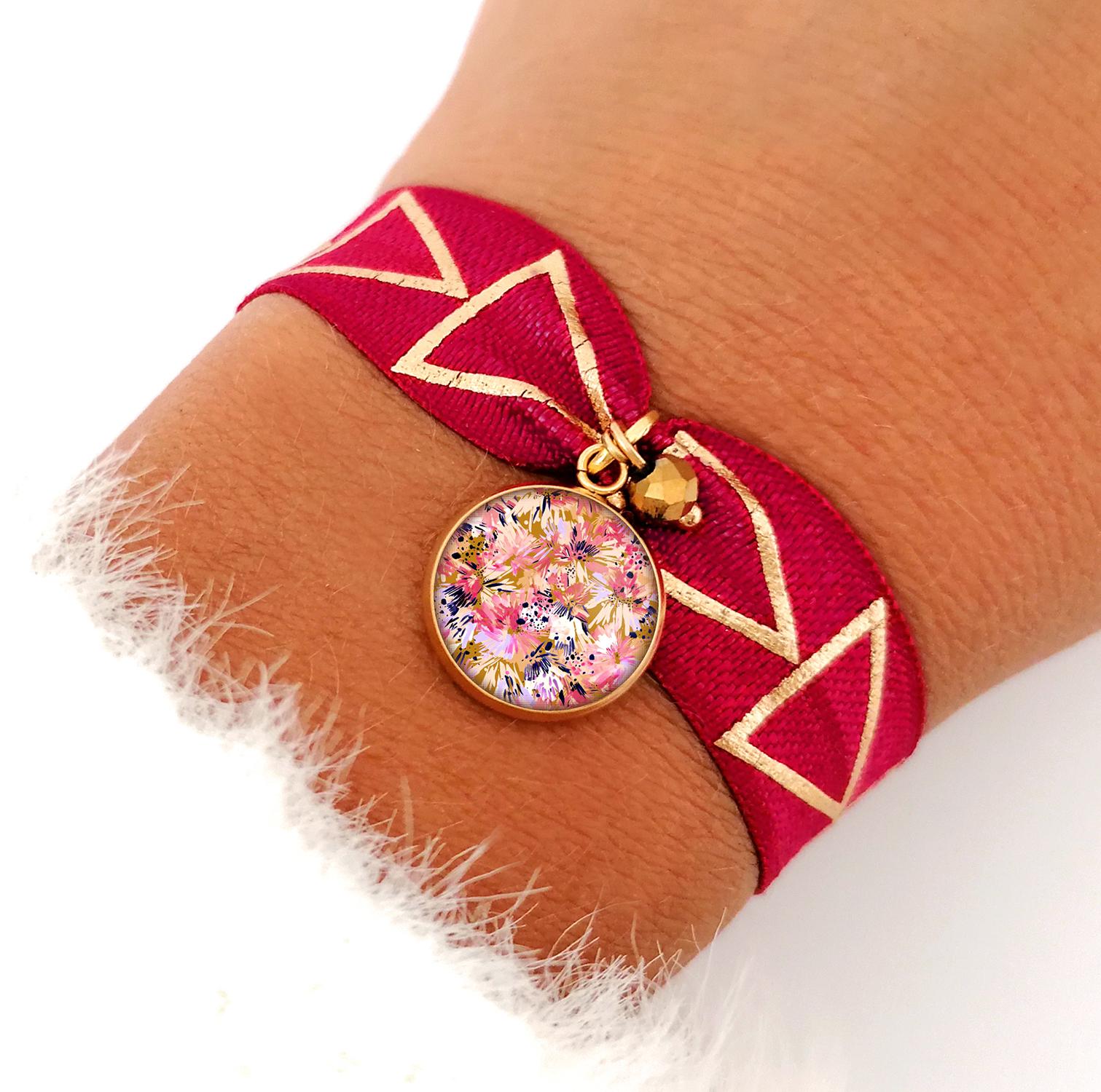 bracelet rose bykloe bijoux