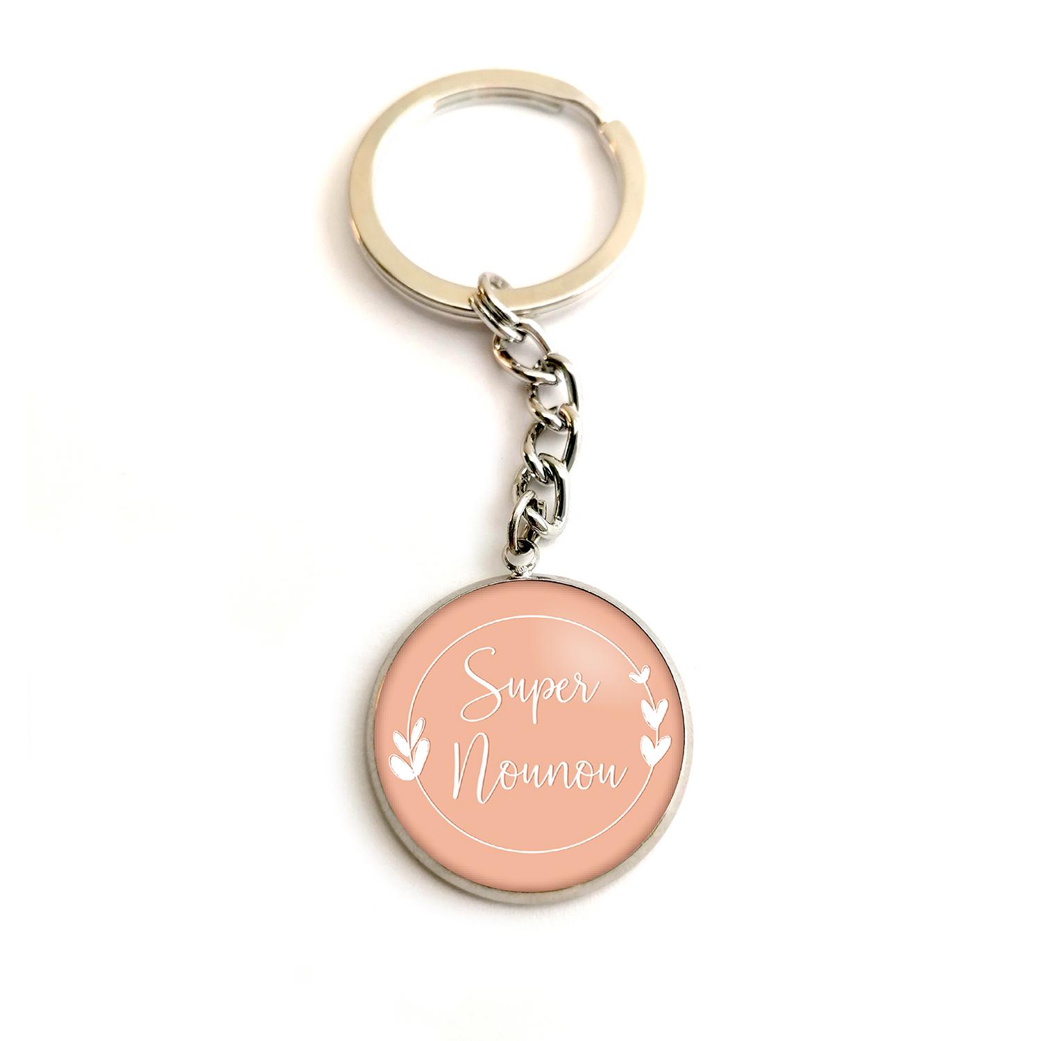 porte clé personnalisé texte bykloe bijoux