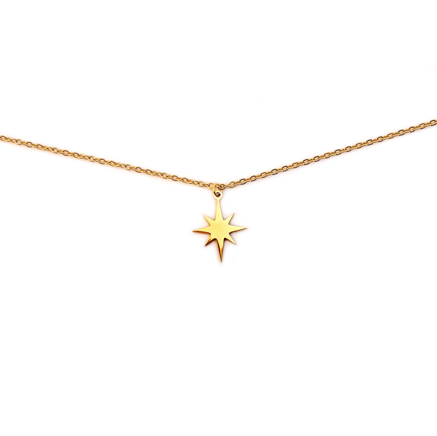 collier étoile du nord bykloe bijoux