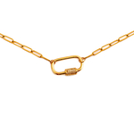 Collier grosse maille et mousqueton bykloe bijoux