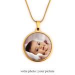 collier photo bijoux personnalisés bykloe