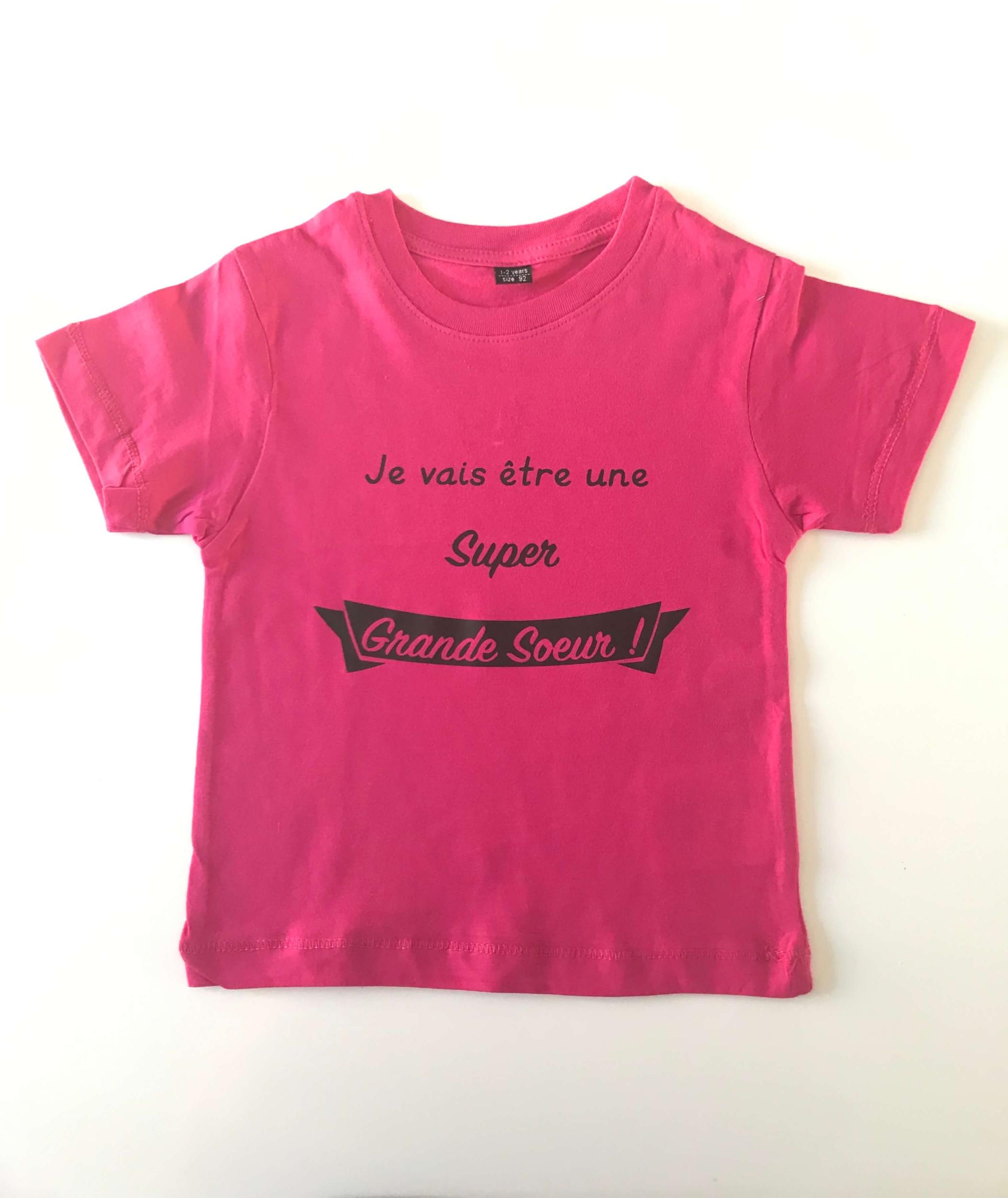 T-shirt enfant Je vais être une Super Grande Soeur