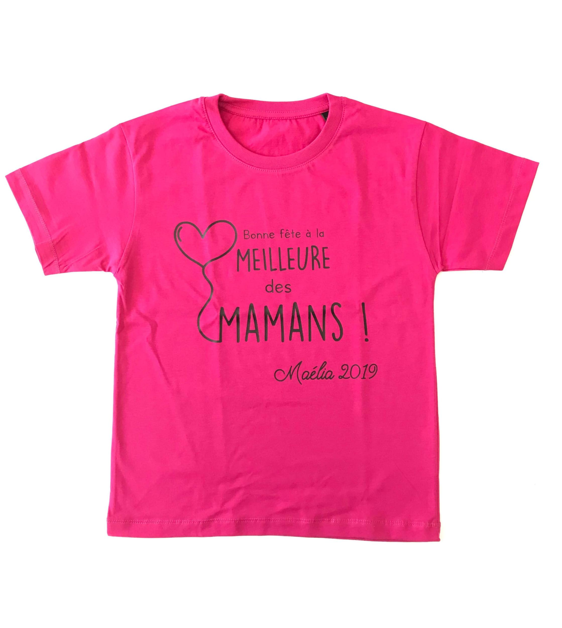 T-shirt enfant Bonne fête à la meilleure des mamans