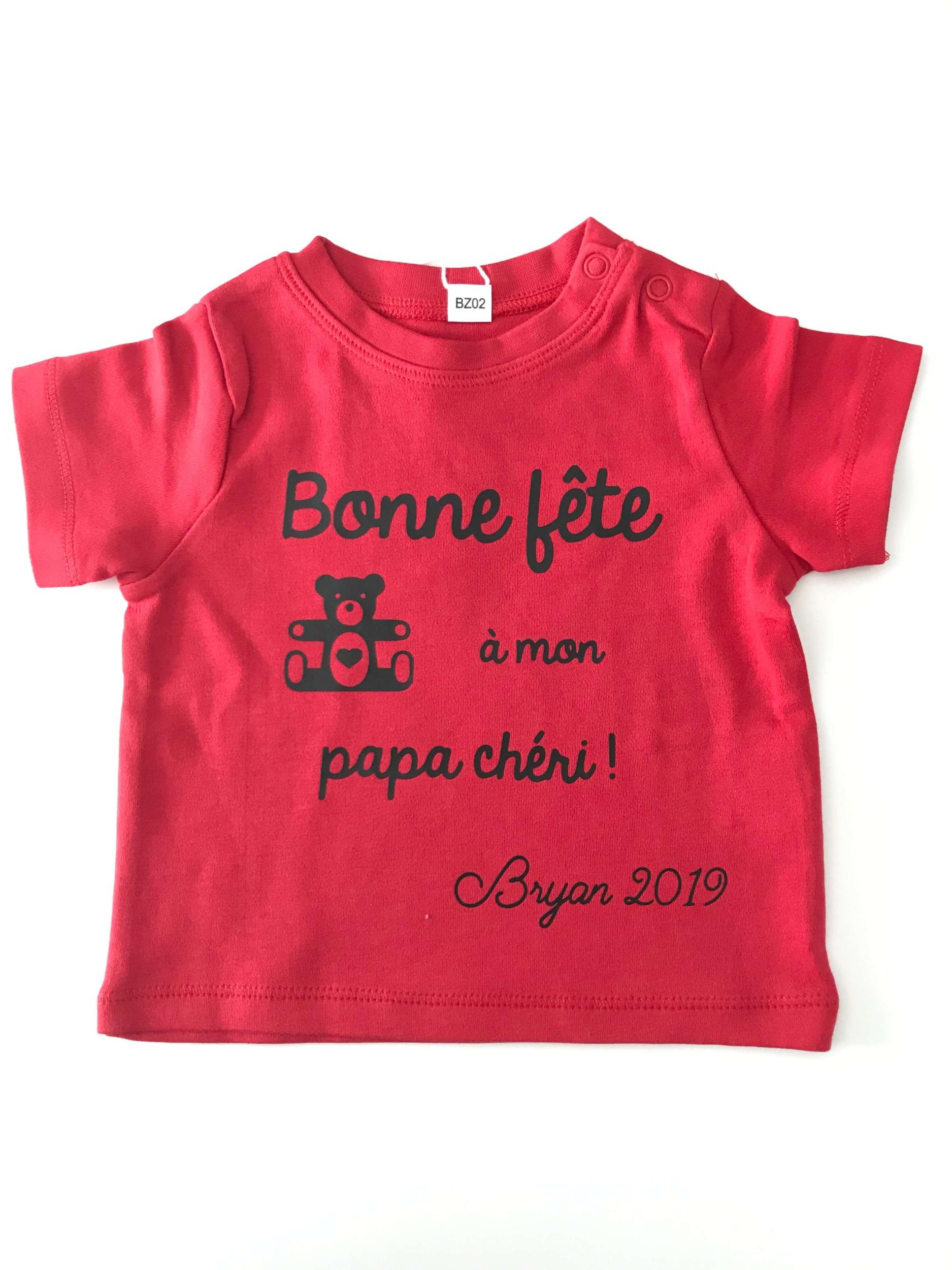T-shirt bébé Bonne fête à mon papa chéri