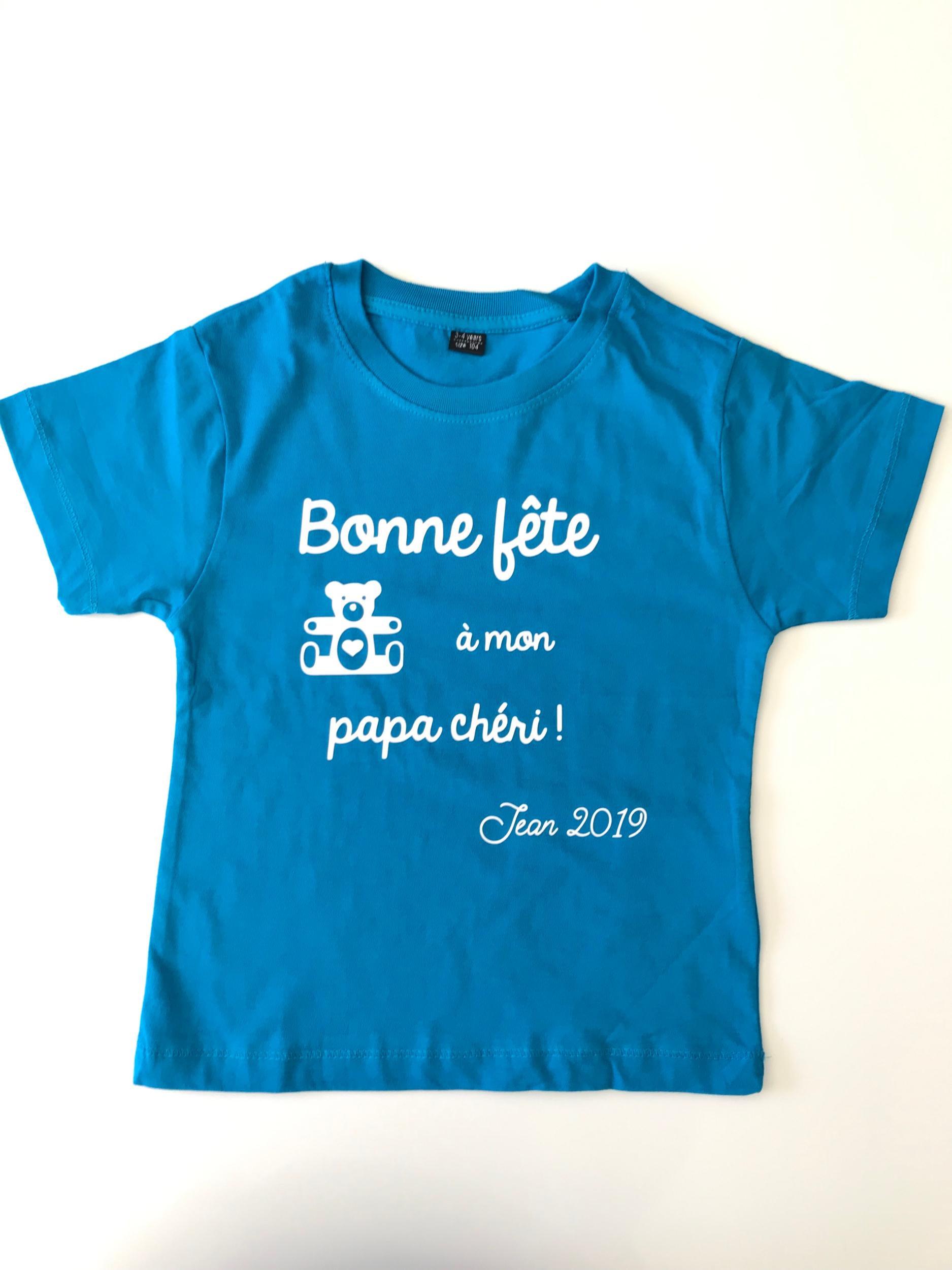 T-shirt enfant Bonne fête à mon papa chéri !