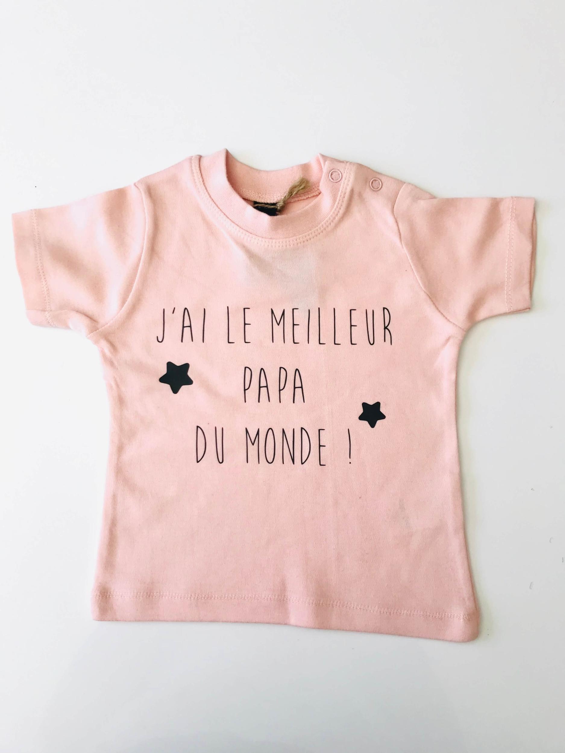 T-shirt bébé J\'ai le meilleur papa du monde