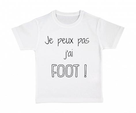 T-shirt enfant Je peux pas j\'ai FOOT !
