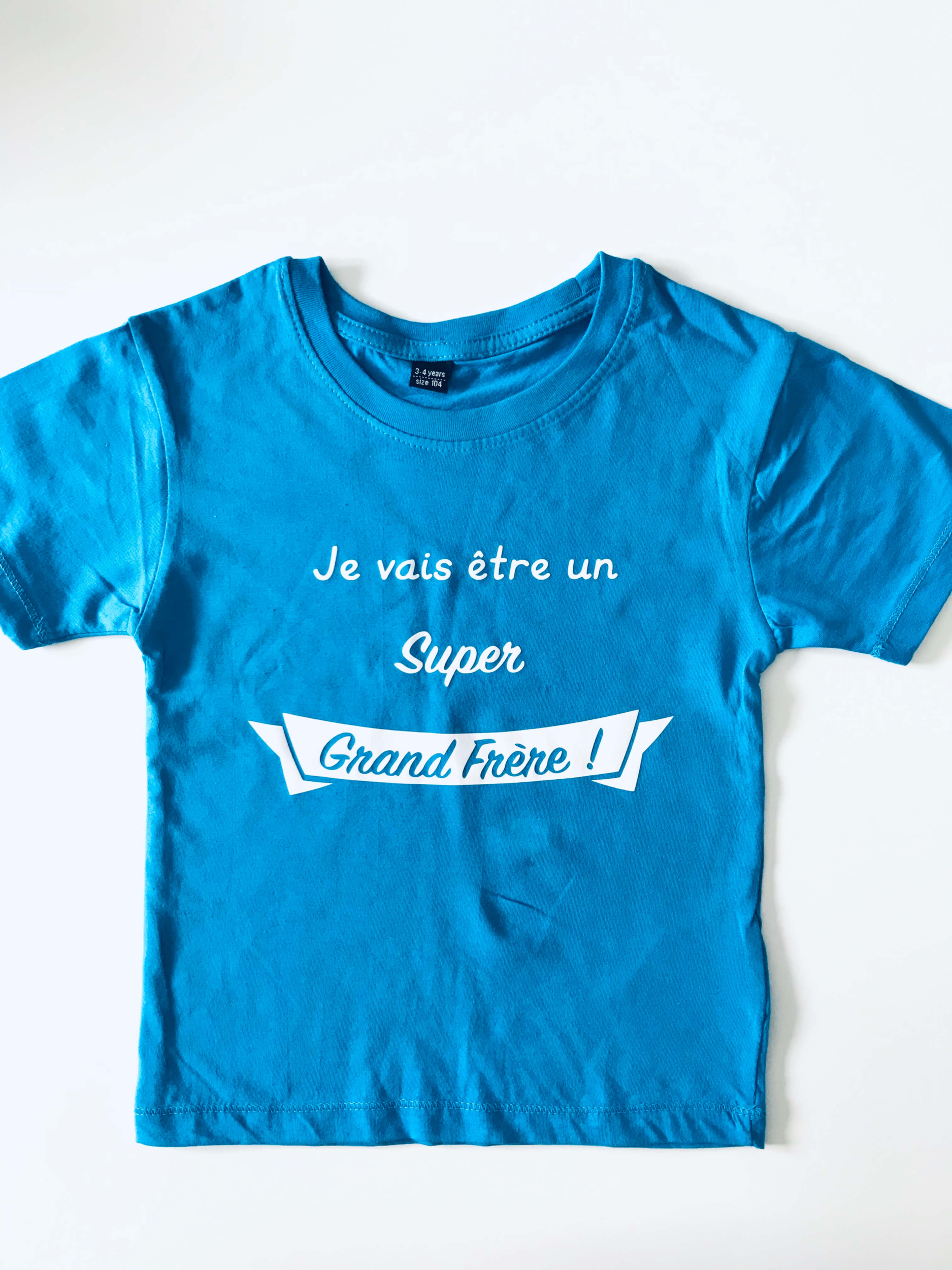 T-shirt enfant Je vais être un Super Grand Frère