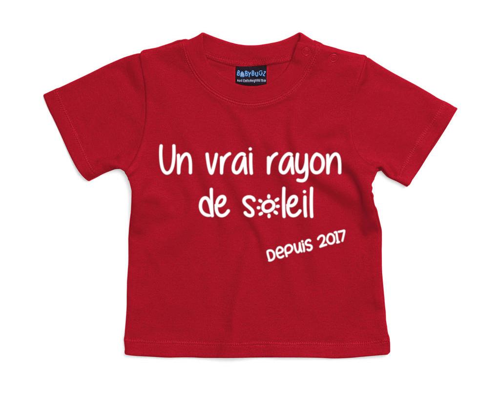 tshirt-bébé-rouge-rayon-de-soleil