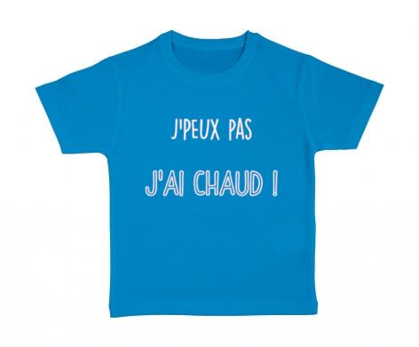T-shirt enfant J\'peux pas j\'ai chaud !