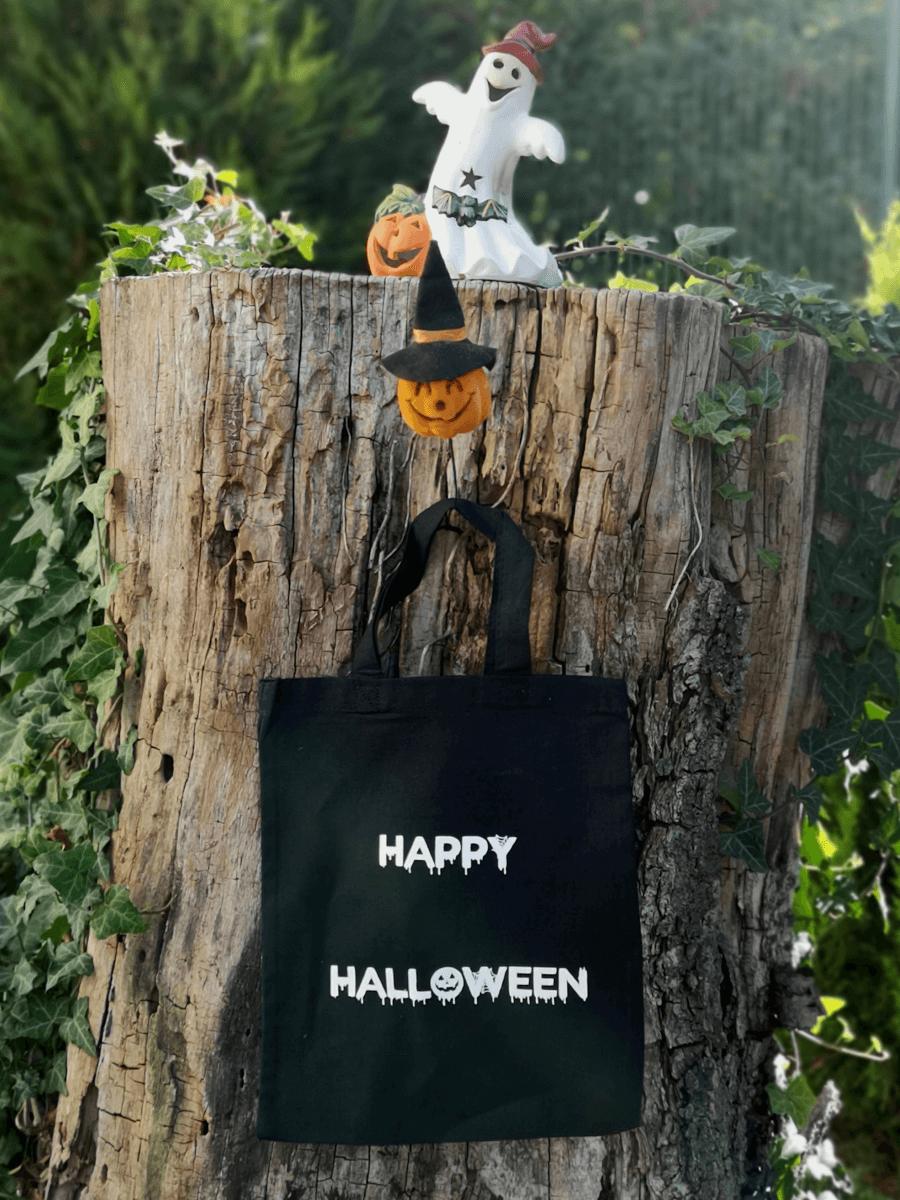 Mini tote bag Happy Halloween