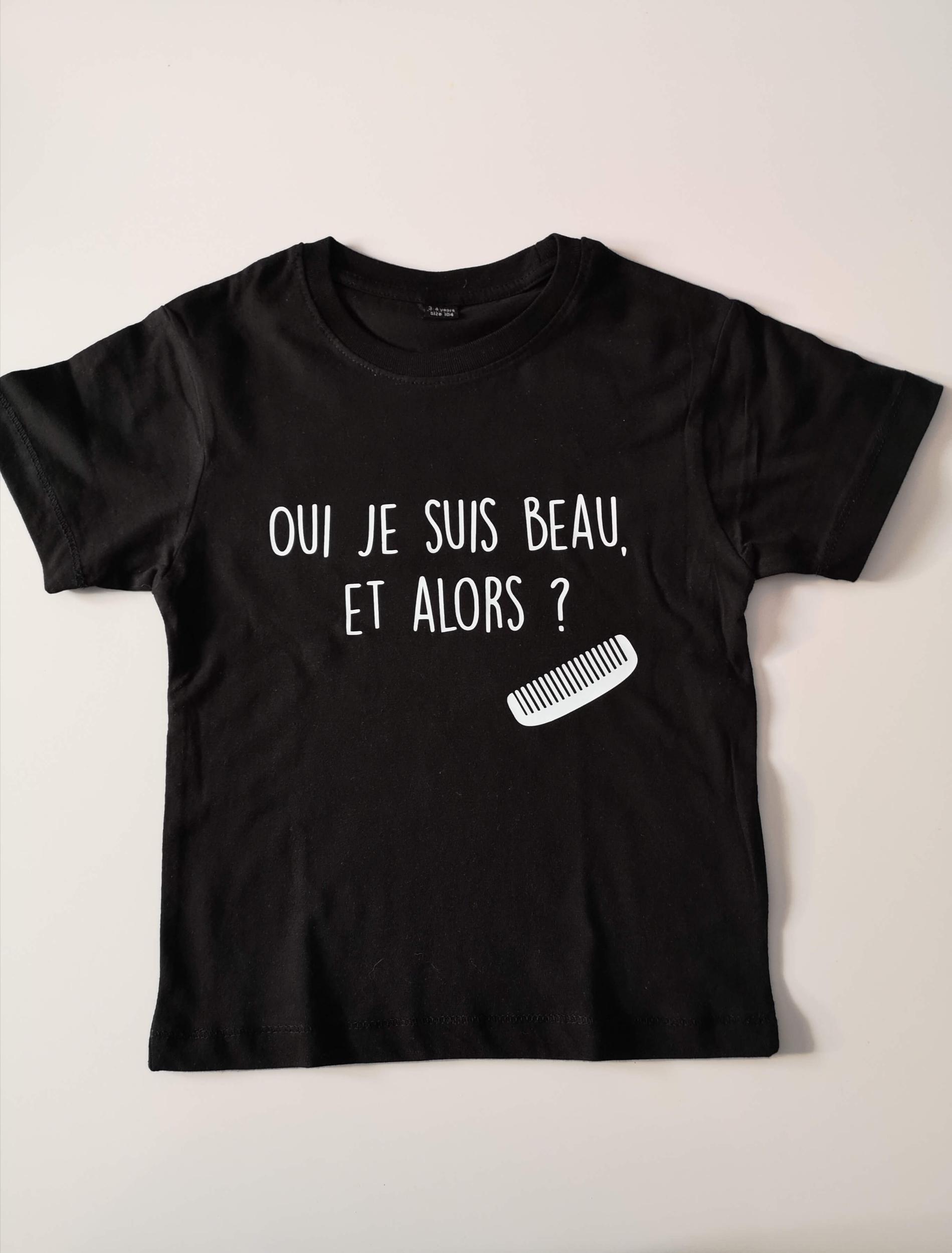 T-shirt enfant Oui je suis beau, et alors ?