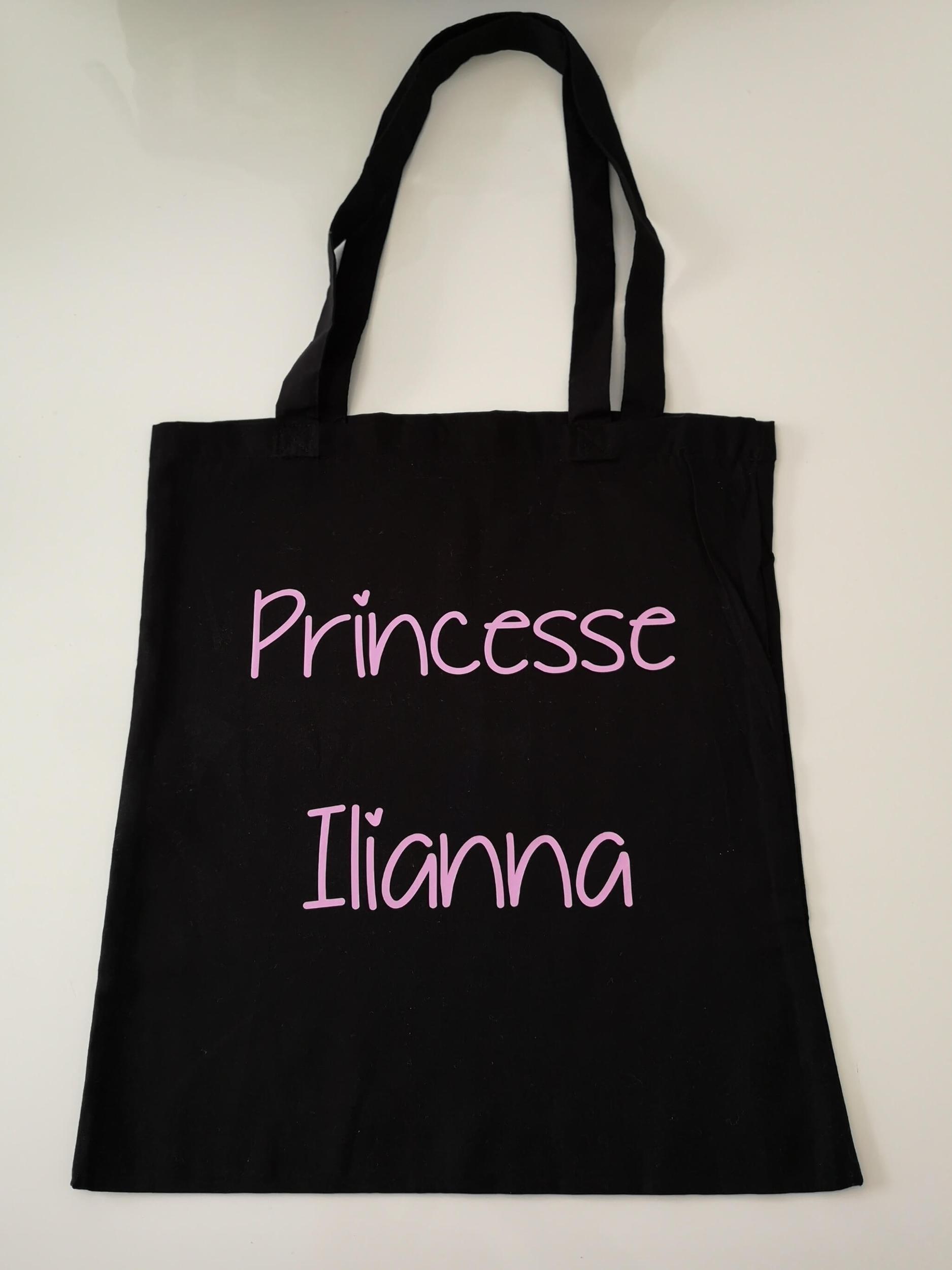 Tote bag Princesse + prénom