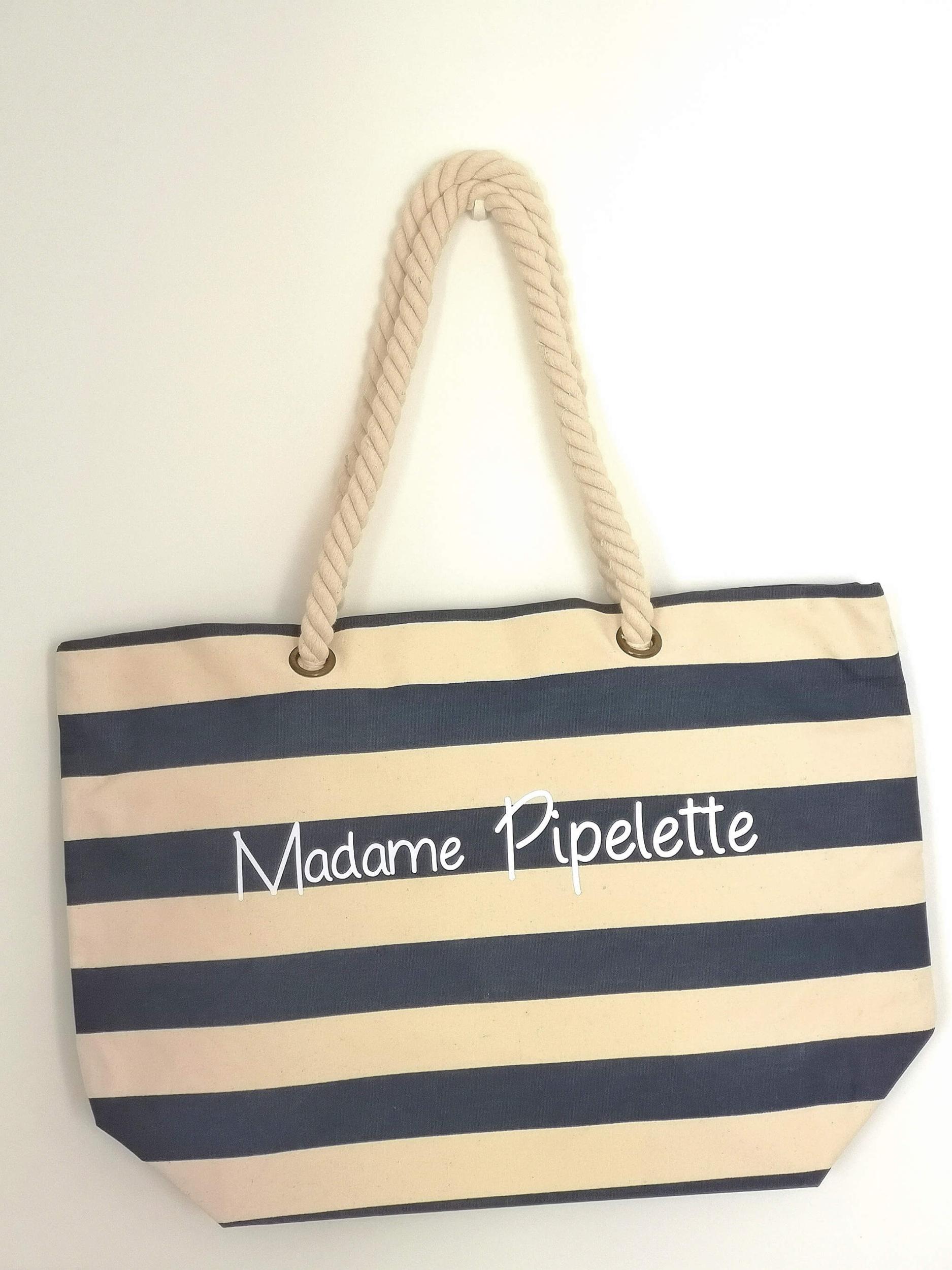 Sac de plage Madame Pipelette