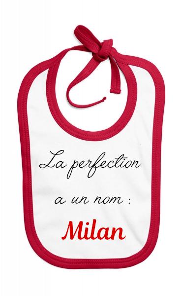 Bavoir La perfection a un nom : *prénom*