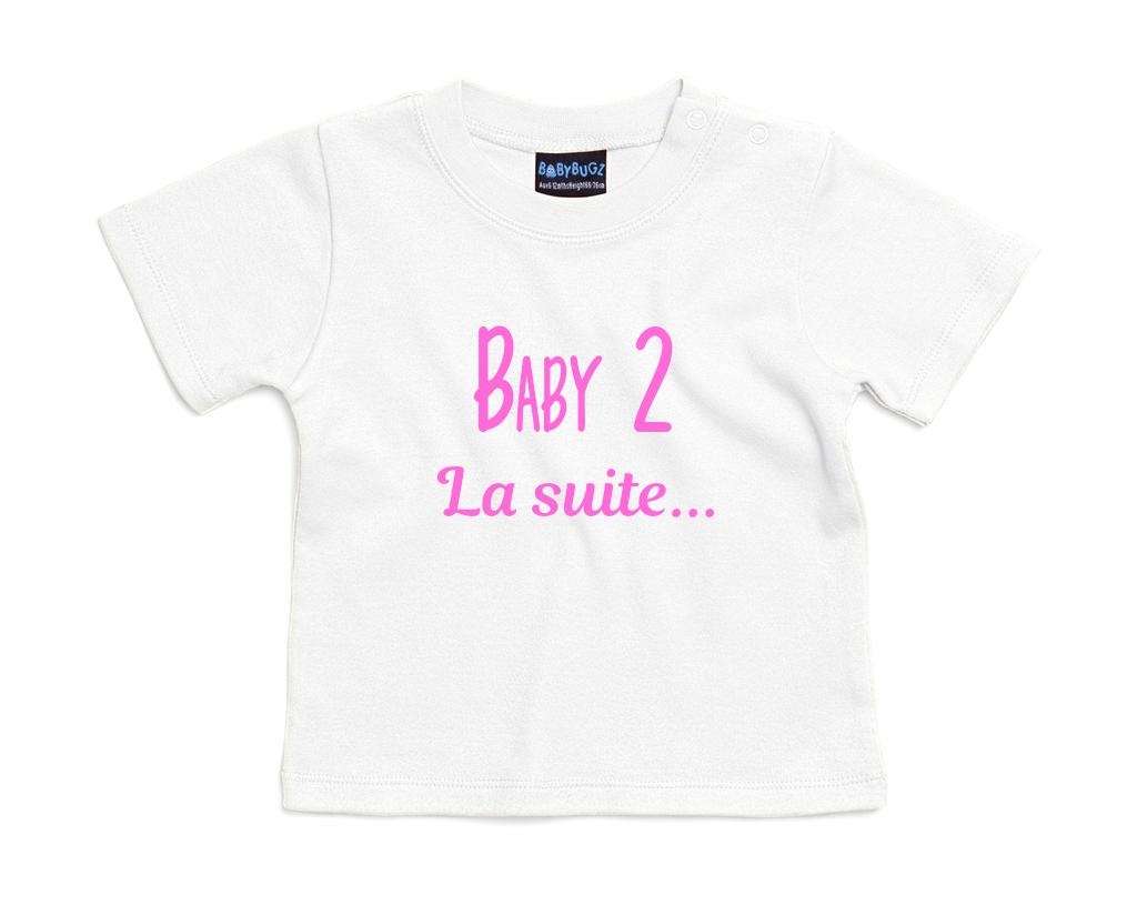 T-shirt bébé annonce de naissance Baby 2