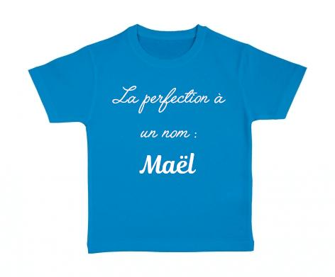 T-shirt enfant La perfection a un nom : ...