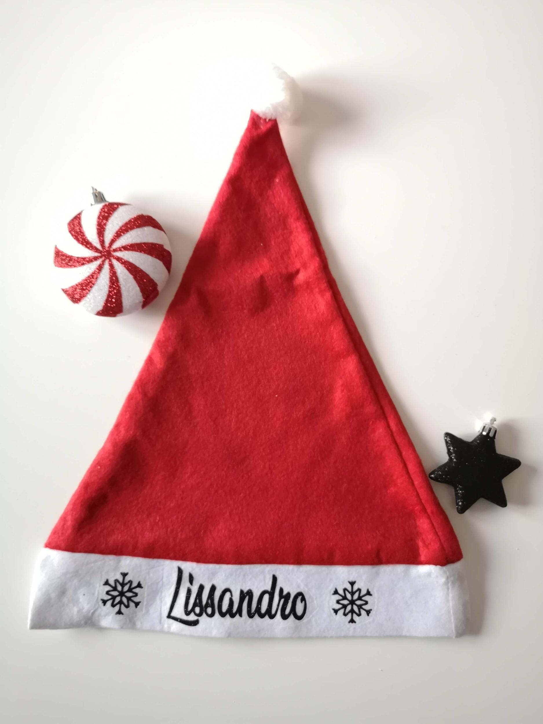 Bonnet de Père Noël enfant personnalisable