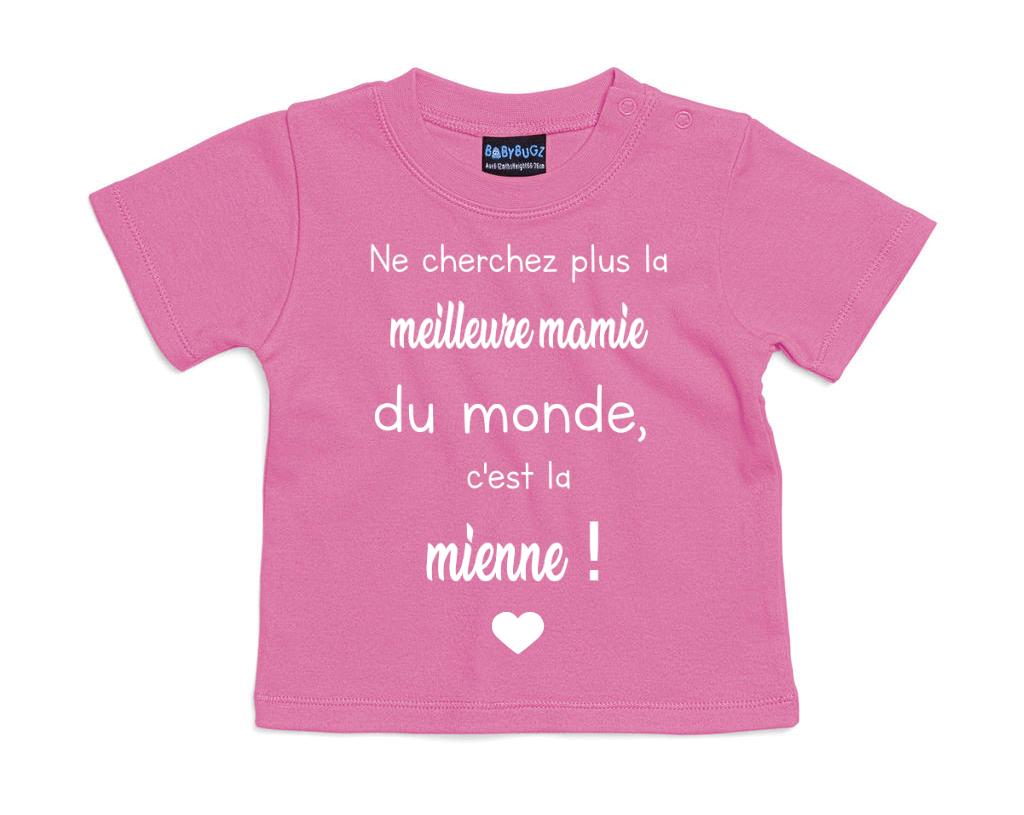 T-shirt bébé La meilleure mamie du monde c\'est la mienne