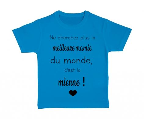 T-shirt enfant La meilleure mamie du monde c\'est la mienne