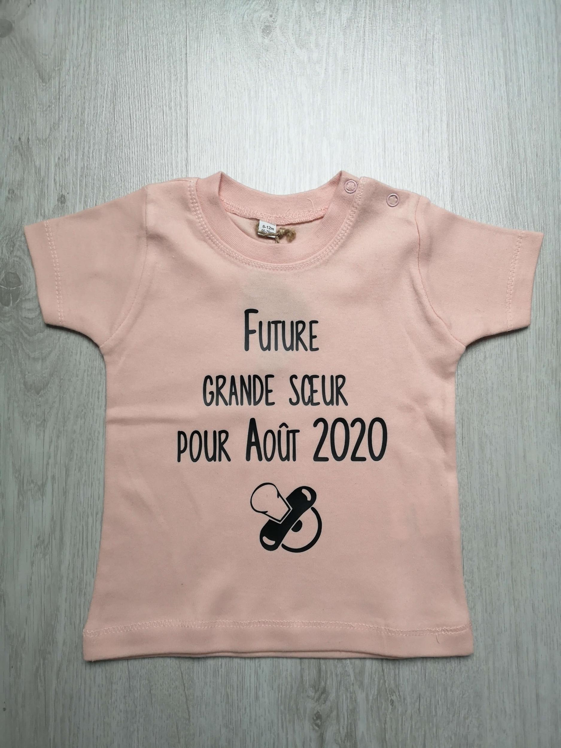 T-shirt bébé Future grande sœur pour ...