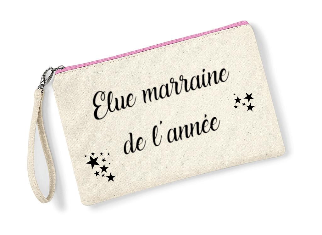 Pochette-elue-marraine-de-lannee-zip-rose