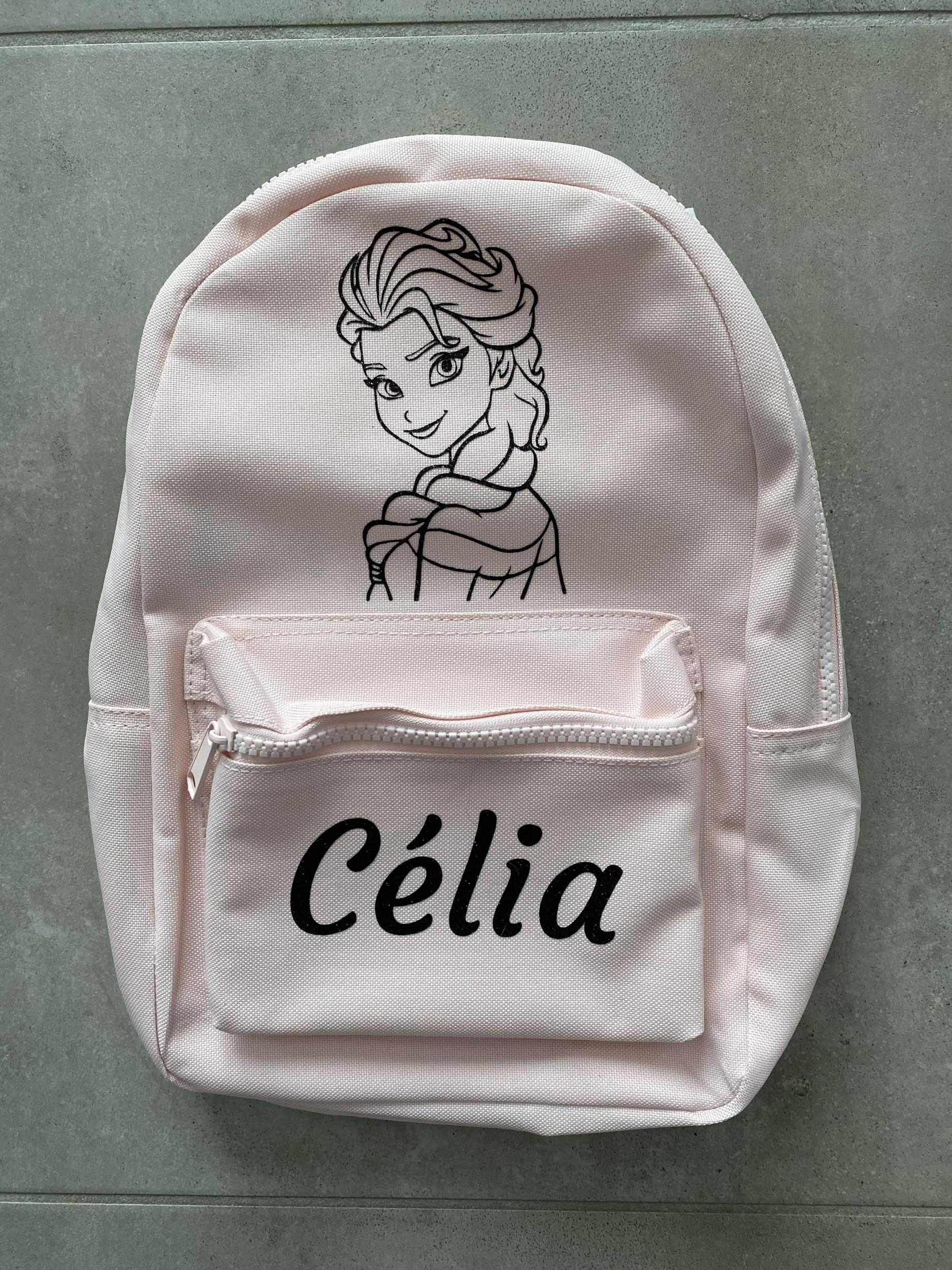 Mini sac à dos Reine des Neiges prénom Célia
