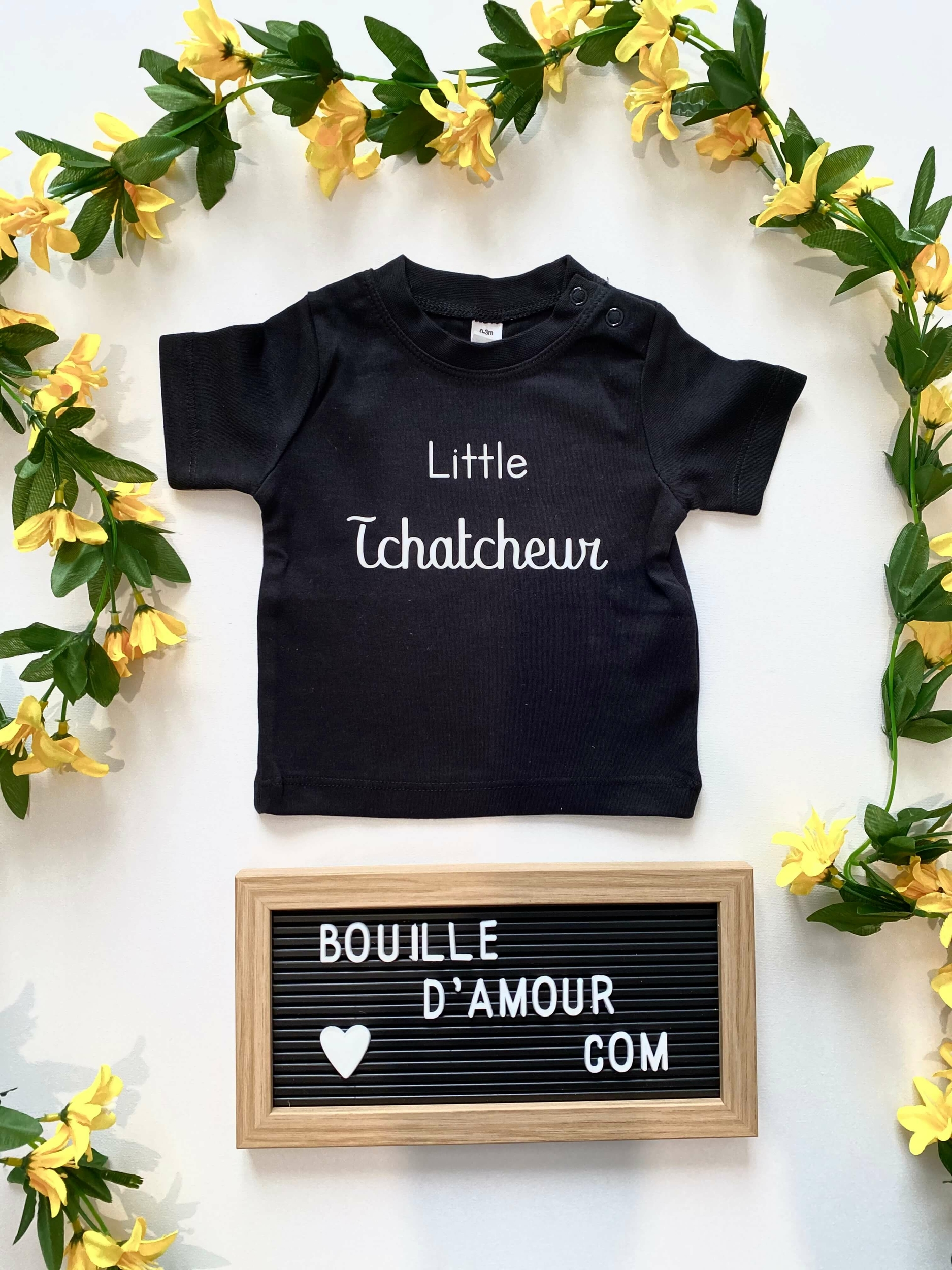 T-shirt bébé little tchatcheur personnalisé