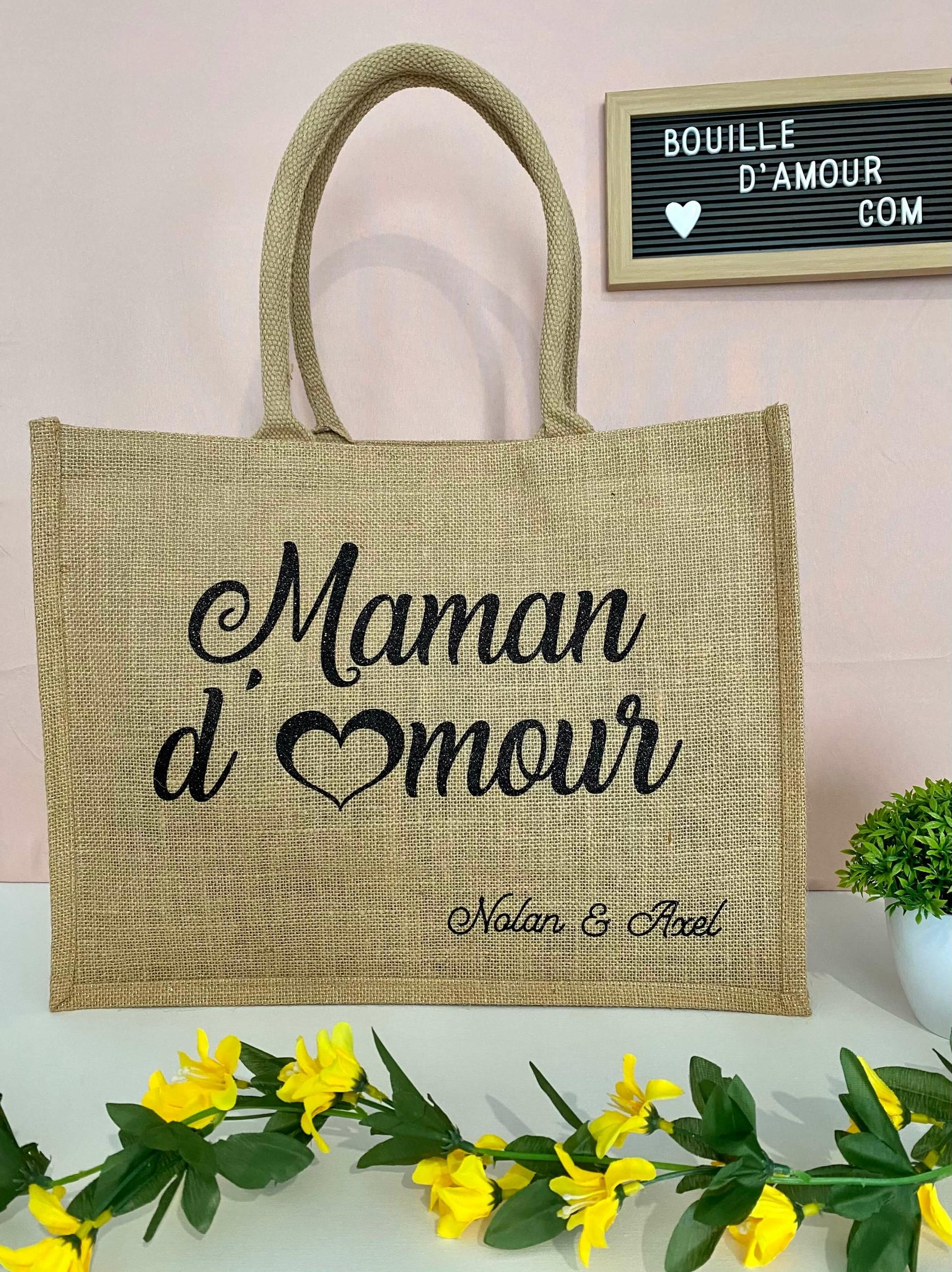 Sac shopping en jute Maman d\'Amour