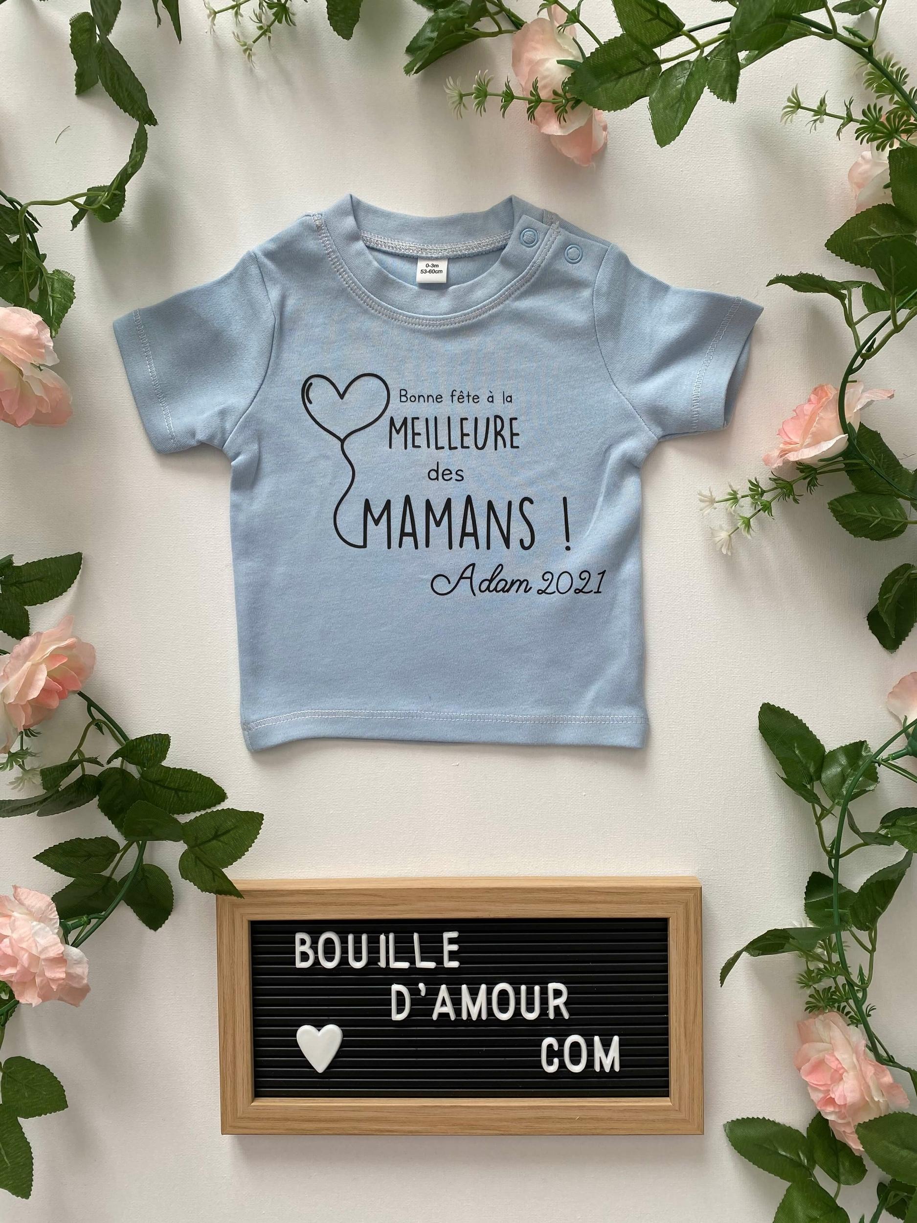 T-shirt bébé Bonne fête à la meilleure des mamans
