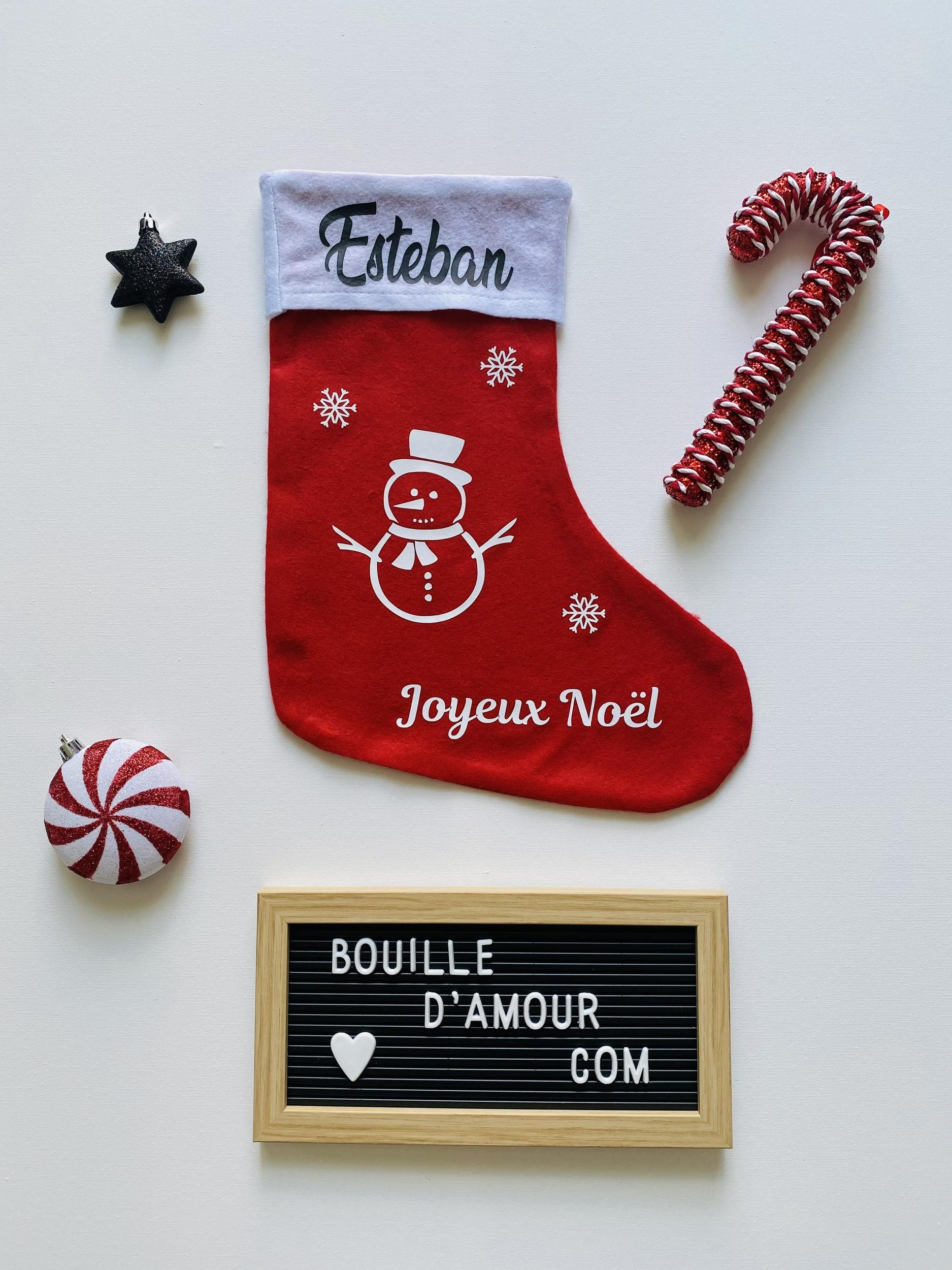 Botte de Noël Bonhomme de neige