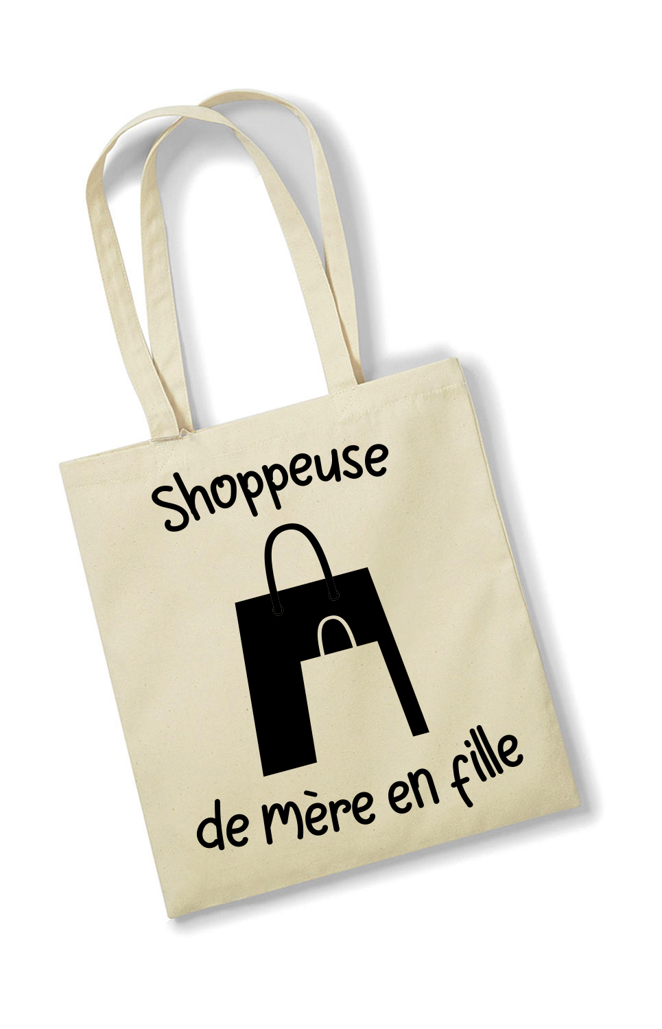 Tote bag Shoppeuse de mère en fille