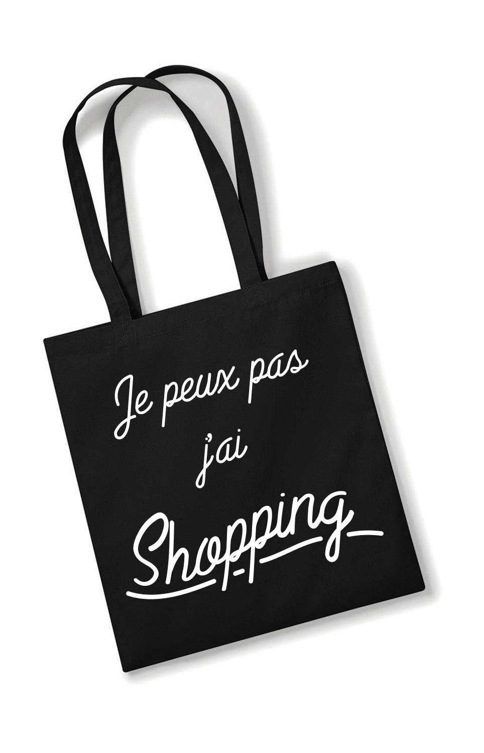 Tote bag Je peux pas, j\'ai shopping !