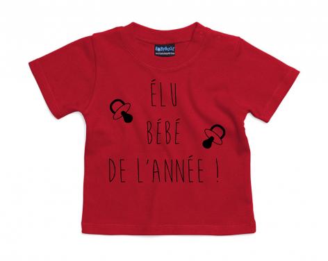 T-shirt bébé Élu bébé de l\'année