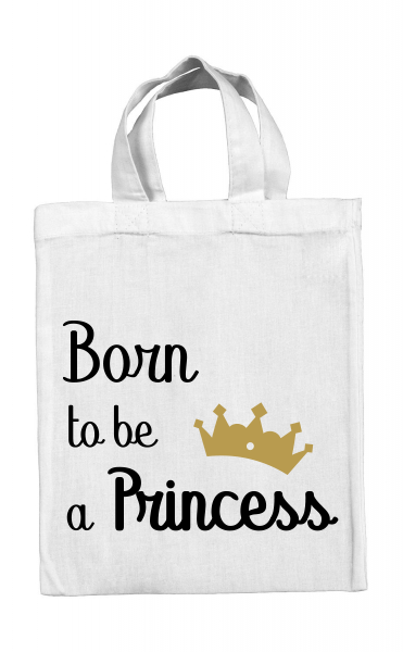 Mini tote bag Born to be a Princess