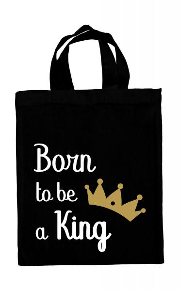 Mini tote bag Born to be a King