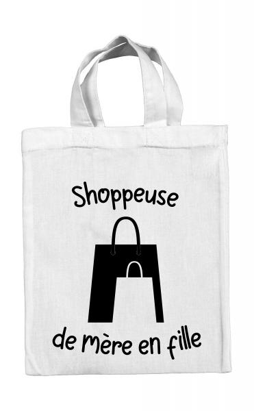 Mini tote bag Shoppeuse de mère en fille