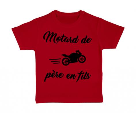 T-shirt enfant Motard de père en fils