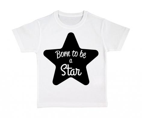 tshirt-enfant-blanc-born-to-be-a-star