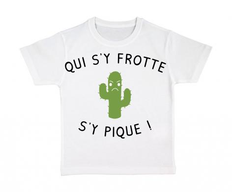 T-shirt enfant Qui s\'y frotte s\'y pique