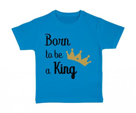 tshirt-enfant-bleu-born-to-be-a-king
